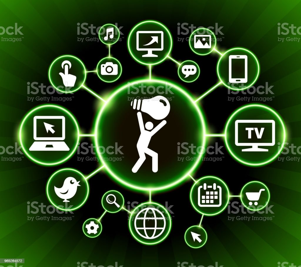 Man Carrying Ligh Bulb Internet Communication Technology Dark Buttons Background royalty-free man carrying ligh bulb internet communication technology dark buttons background stock vector art & more images of bird