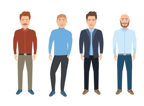 ilustrações, clipart, desenhos animados e ícones de homem casual vestido. homem de negócios - moda urbana