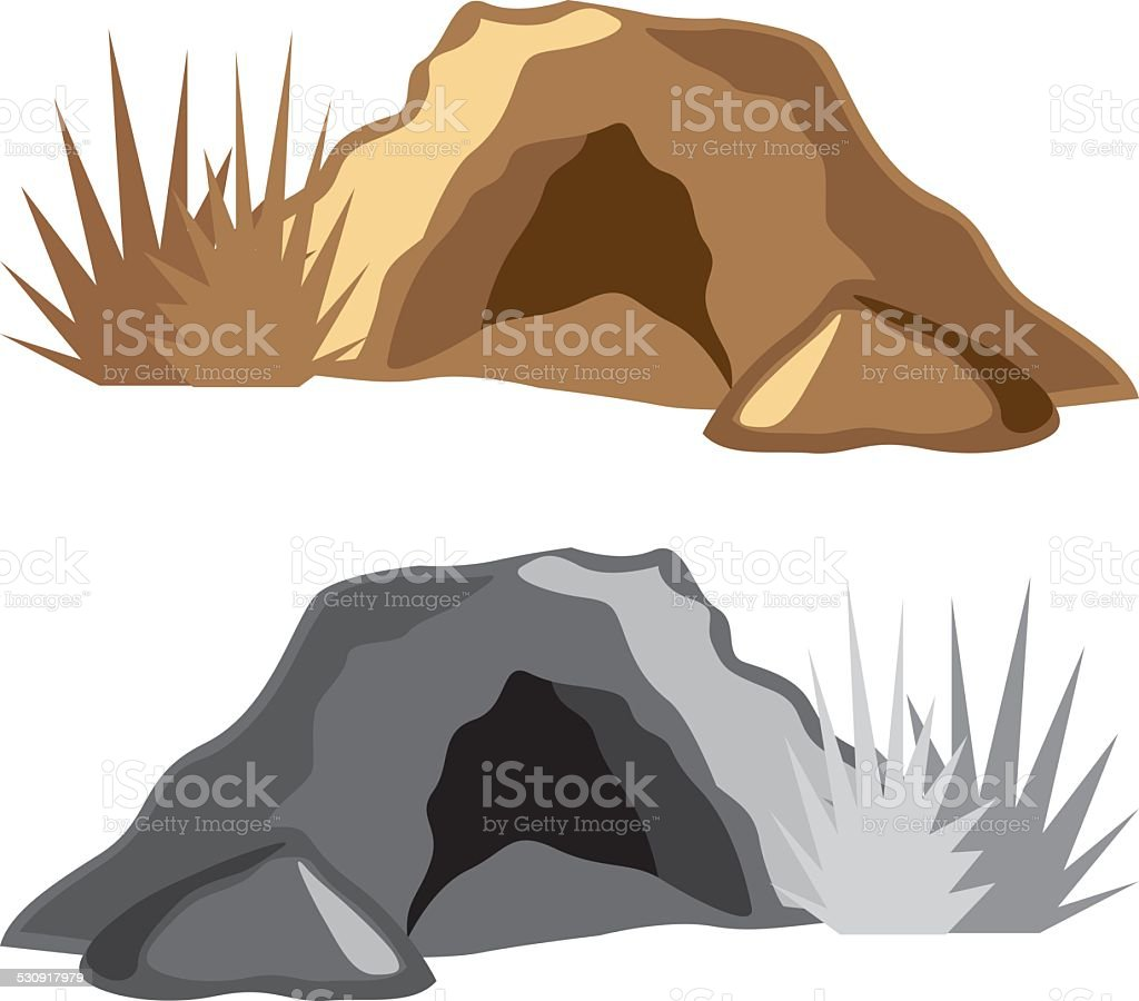 Man Cave vector art illustration