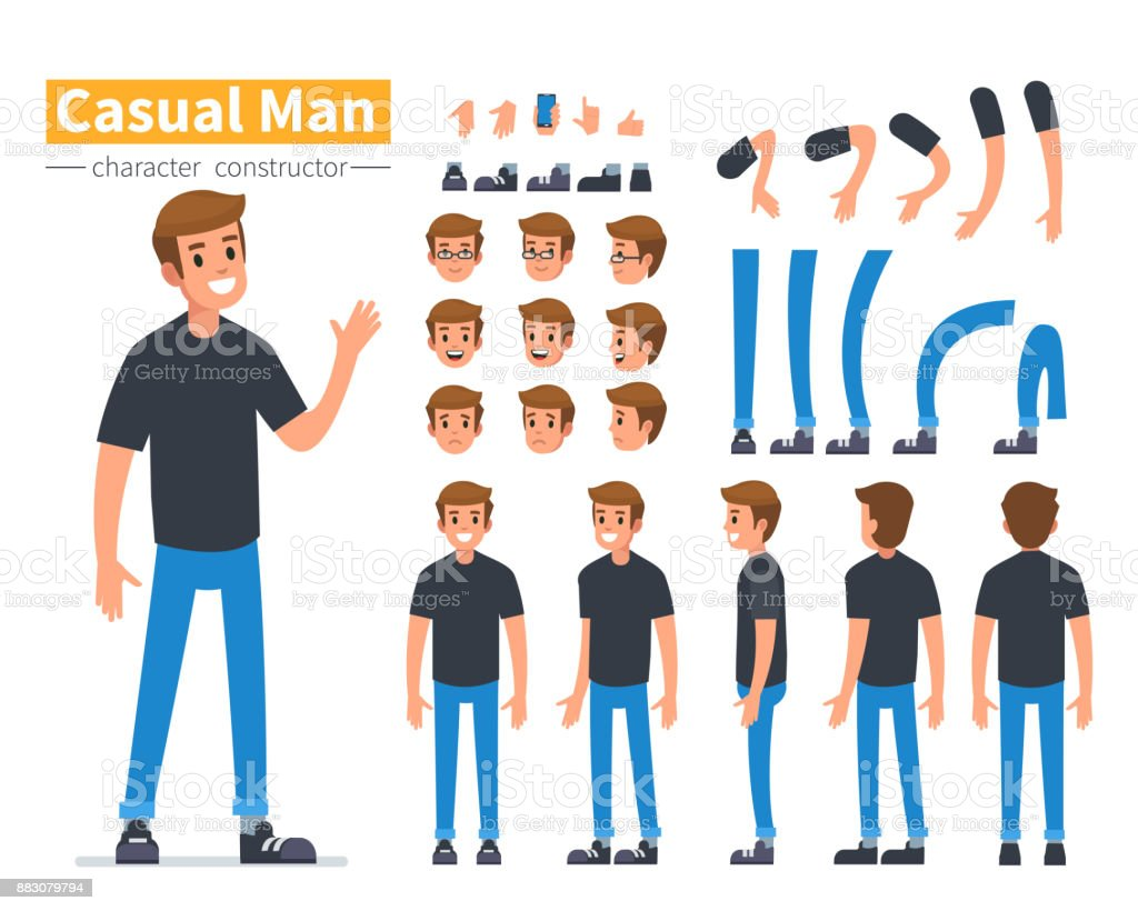 man character royalty-free man character stock illustration - download image now
