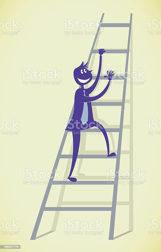 Man climbing Upwards royalty-free stock vector art