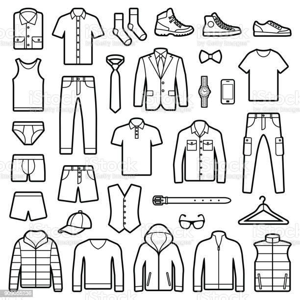 Man clothes and accessories vector id909055236?b=1&k=6&m=909055236&s=612x612&h=tjimef40mjjmjtpajcmpkcwwrgl7pyjuonst9stlnpe=