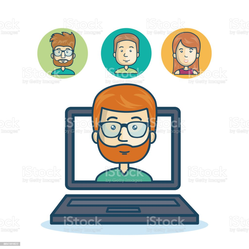 man community online smartphone design royalty-free man community online smartphone design stock vector art & more images of adult