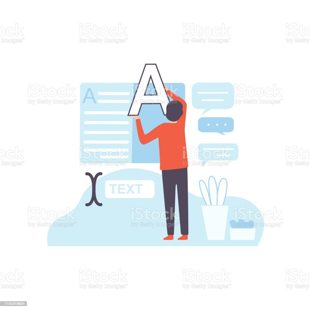 Man Creating Web Site Page Digital Content Creating