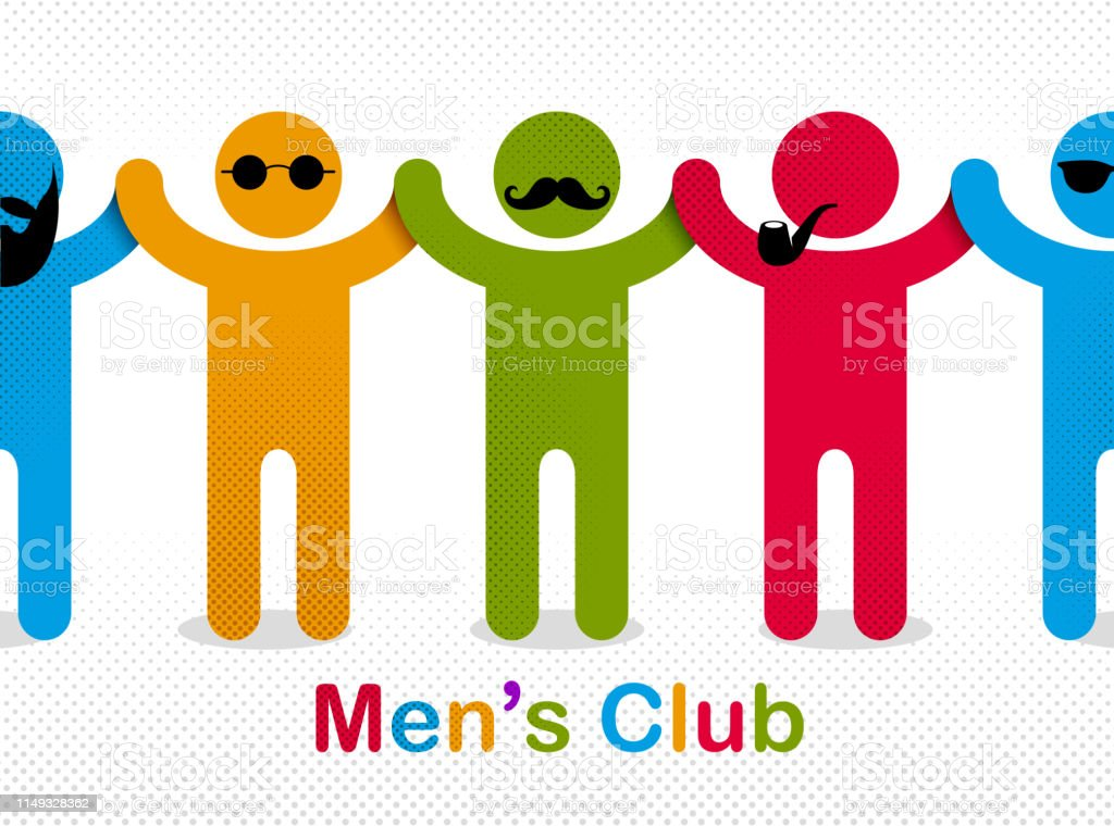 Man day international holiday, gentleman club, male solidarity...
