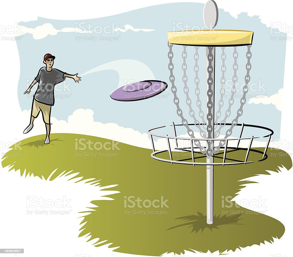 royalty free disc golf clip art vector images illustrations istock rh istockphoto com disc golf pictures clip art frisbee golf clip art