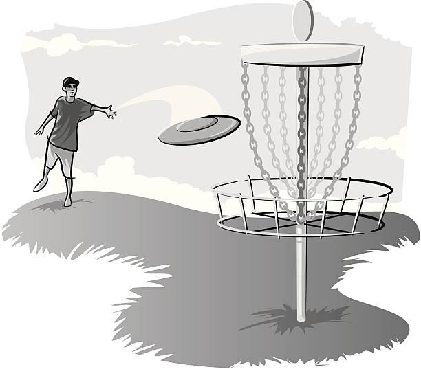Royalty Free Disc Golf Basket Clip Art Vector Images