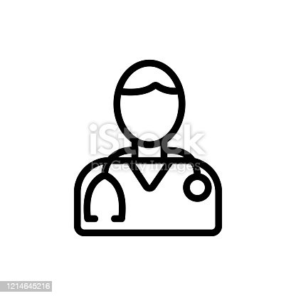 man doctor icon vector. man doctor sign. isolated contour symbol illustration