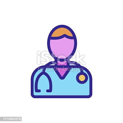 man doctor icon vector. man doctor sign. color isolated symbol illustration