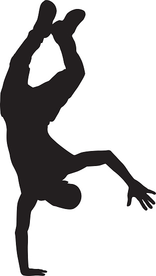 Man Doing One Arm Handstand Silhouette