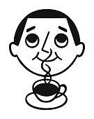 Man Enjoying Coffee