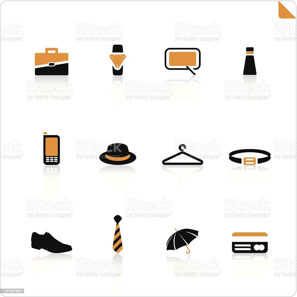 man equipment icon set royalty-free stock vector art