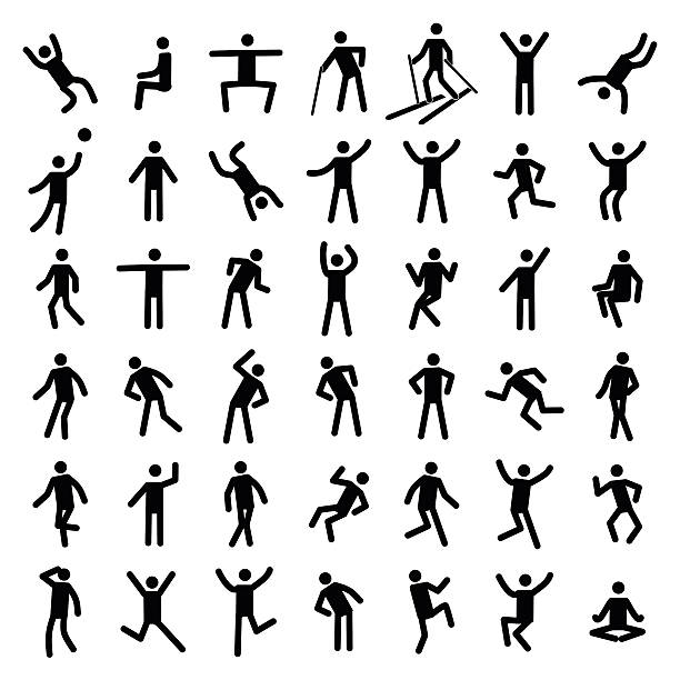 Man excercise icon set vector illustration Man excercise icon set vector illustration isolated on white background one senior man only illustrations stock illustrations