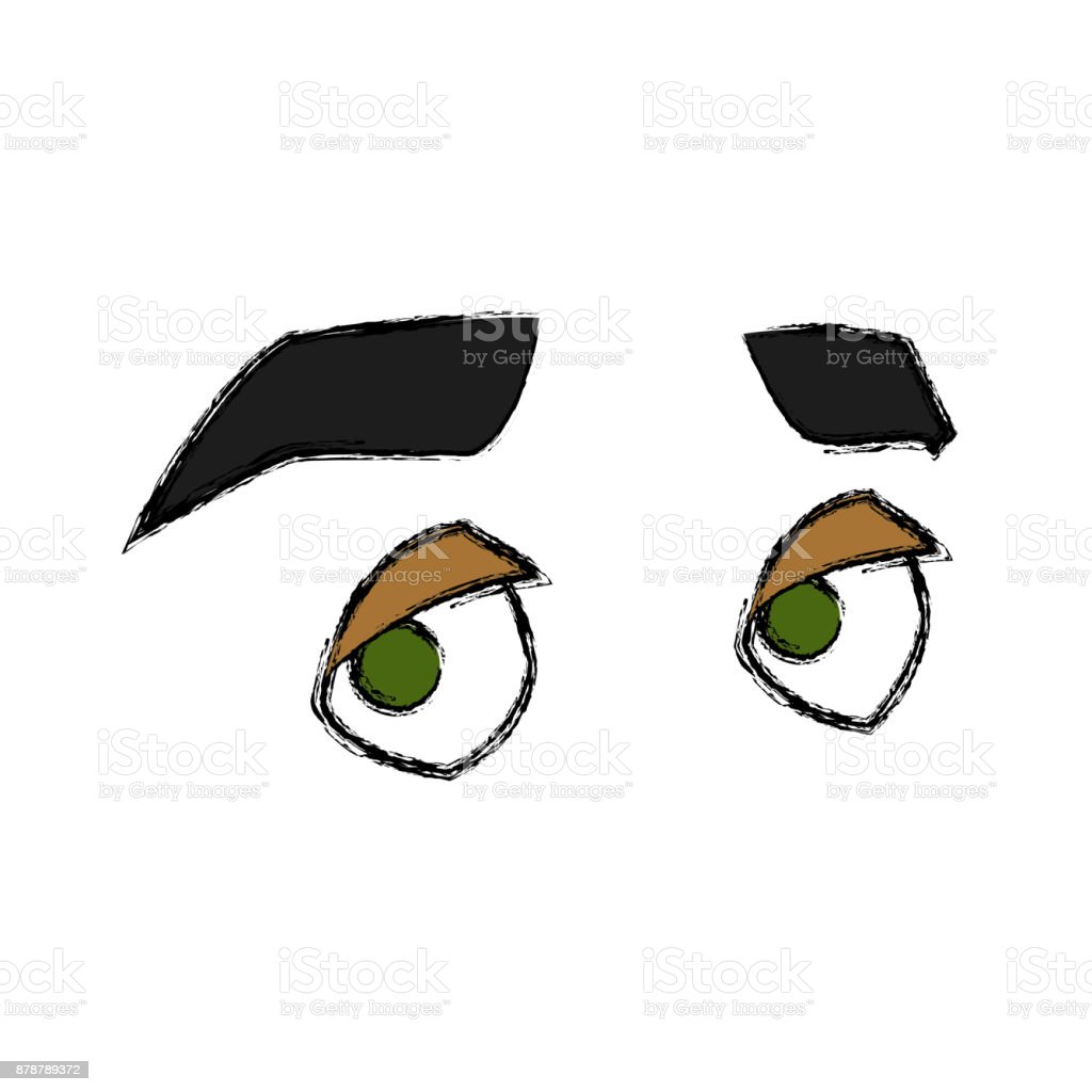 Ilustración De Dibujos Animados De Ojos Hombre Y Más Banco De