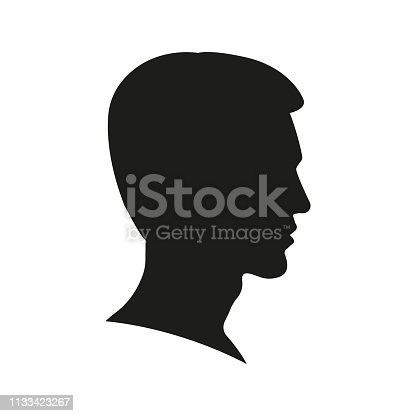 Vector Single Sketch Male Men Hairstyle Clipart Images