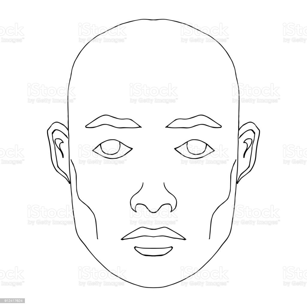 man face sketch stock vector art amp more images of adult