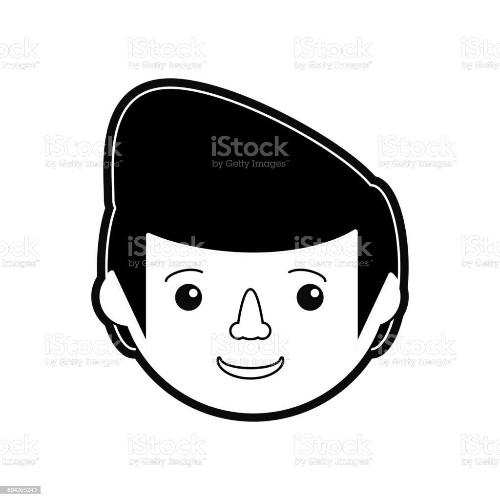 man face  vector illustratio royalty-free man face vector illustratio stock vector art & more images of adult