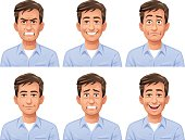 Man Facial Expressions