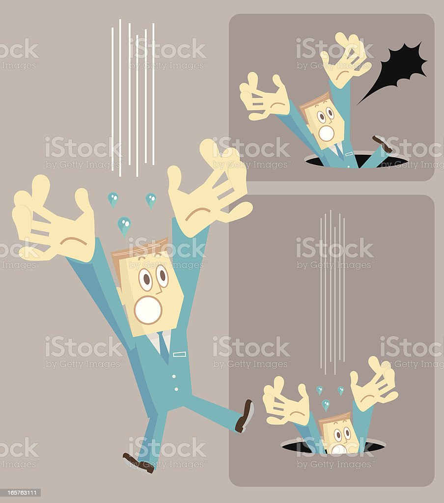 Man falling down ( fell into a hole ) royalty-free stock vector art