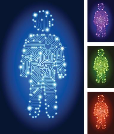 Man Figure Circuit Board Color Set