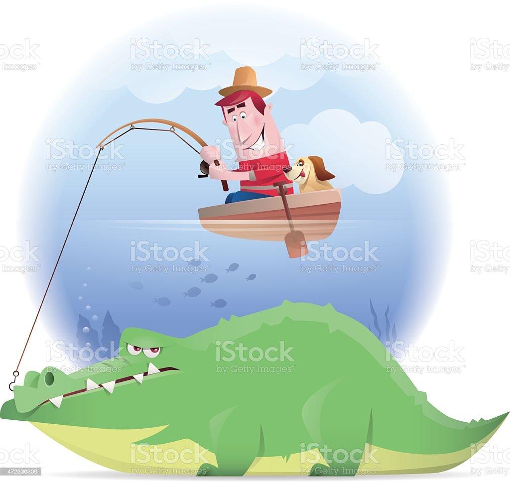 man fishing crocodile royalty-free man fishing crocodile stock vector art & more images of adult