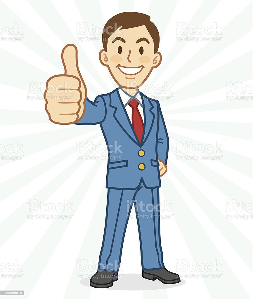 Man Gesturing Thumbs Up royalty-free man gesturing thumbs up stock vector art & more images of adult