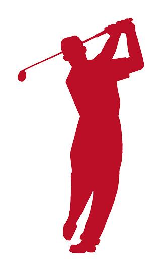 Man Golfing Silhouette