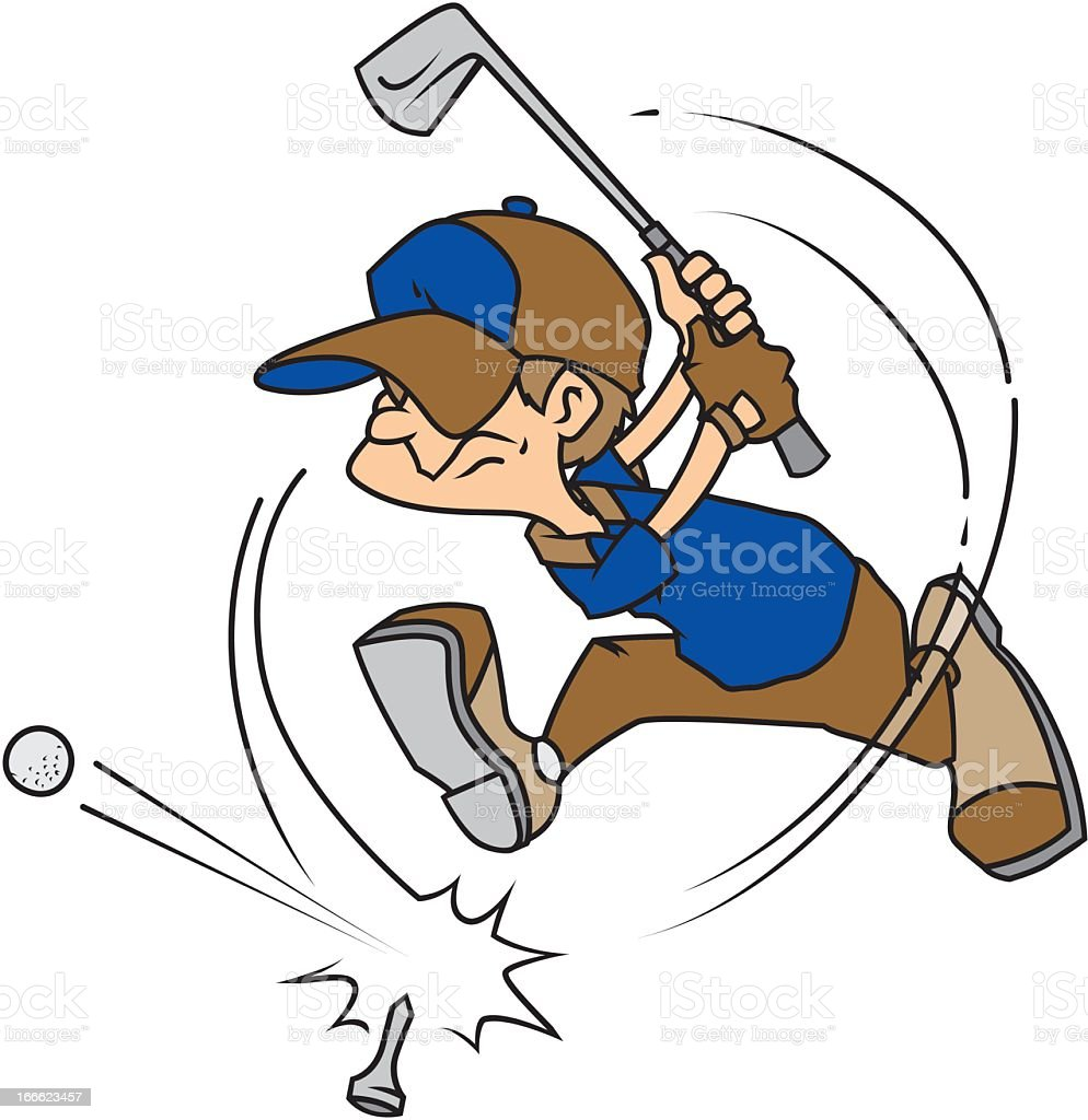Man Golfing royalty-free stock vector art