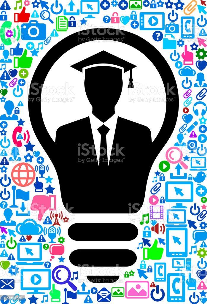 b5537fe8ec382 Man Graduate Technology Web Vector Background Pattern Stock Vector ...