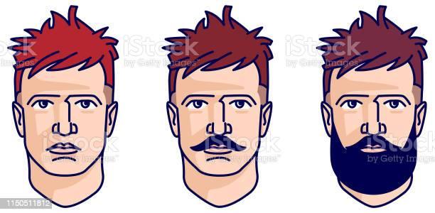 イラスト 男性 髪型