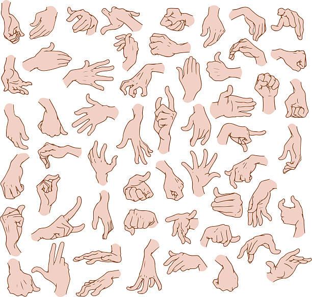Man Hands Pack vector art illustration