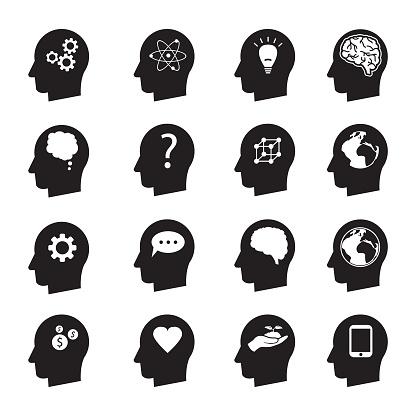 Adam Başına Düşünme Vektör Icon Set Ekoloji Para Bağlantı Sevgi Ve Diğerleri Dikkat Stok Vektör Sanatı & Adamlar'nin Daha Fazla Görseli