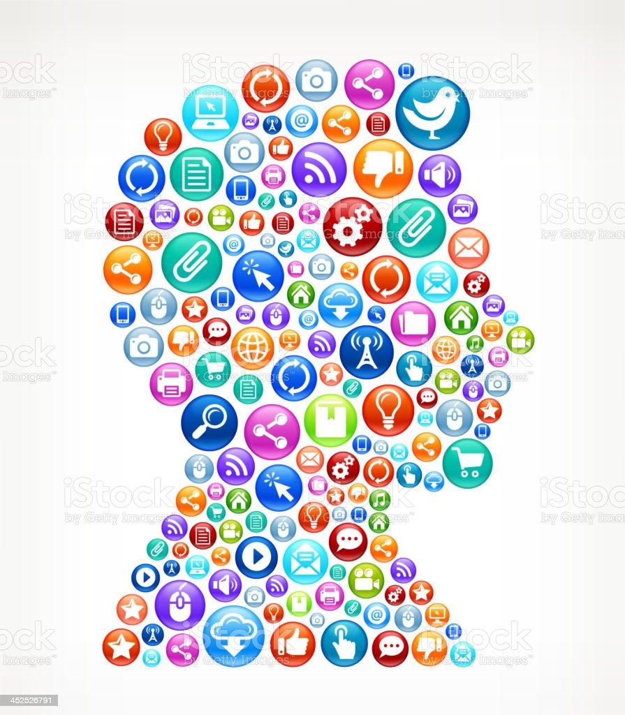 man Head Social Networking and Internet royalty free vector arts royalty-free stock vector art