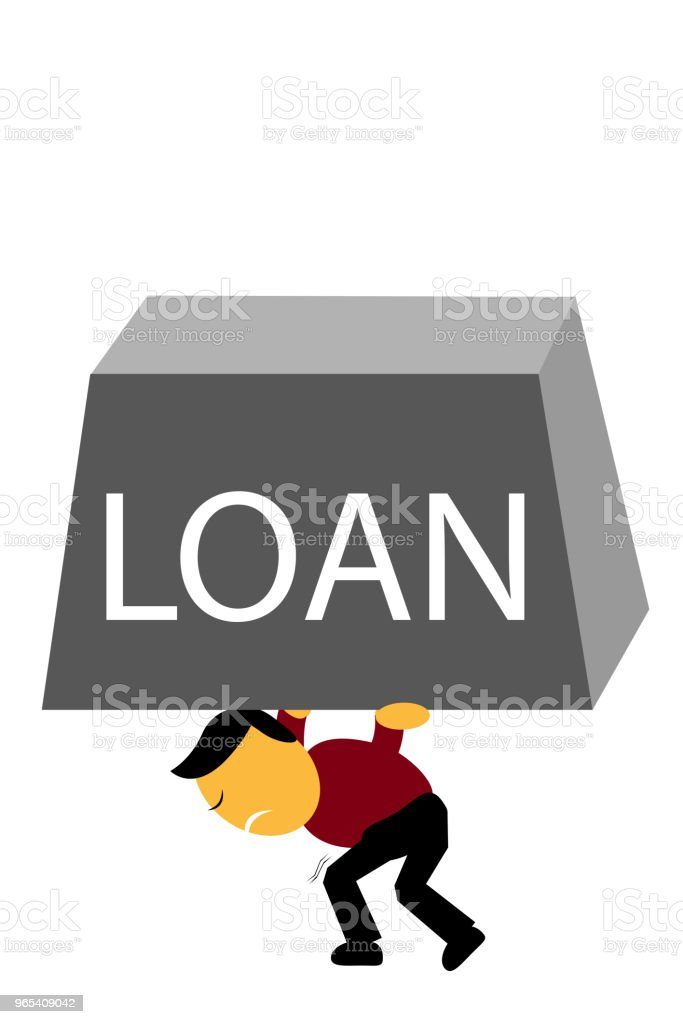 Man Hold Load Weight royalty-free man hold load weight stock illustration - download image now
