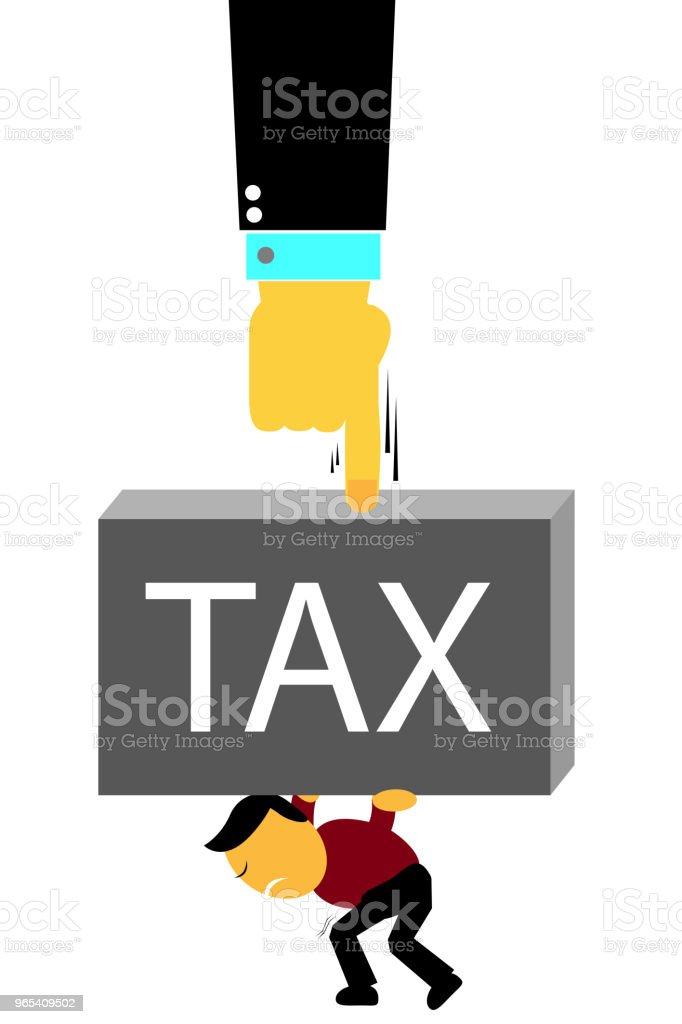 Man Hold tax Weight royalty-free man hold tax weight stock vector art & more images of no people