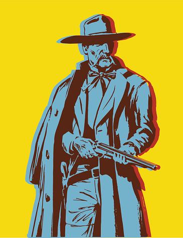 Man Holding a Shotgun