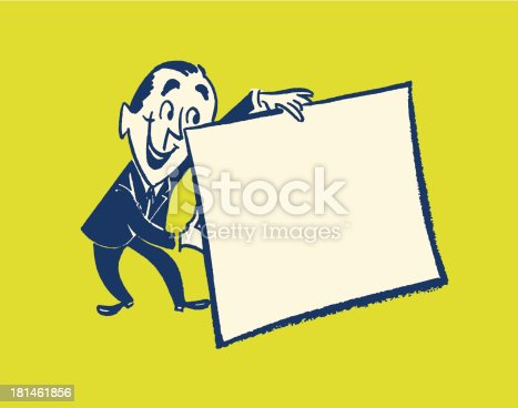 Man Holding Blank Sign
