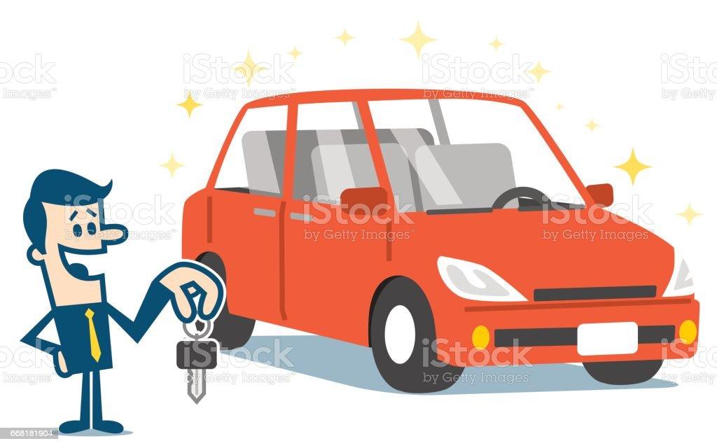royalty free showing off car clip art vector images illustrations rh istockphoto com Rental Car Clip Art Family Car Clip Art