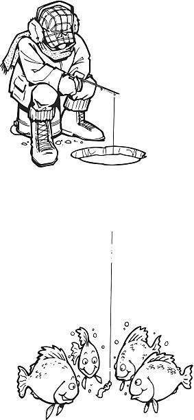 Download 1 652 Ice Fishing Illustrations Clip Art Istock