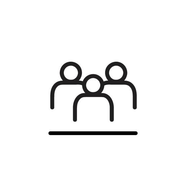 stockillustraties, clipart, cartoons en iconen met man icon vector illustratie, eps10. - drie personen