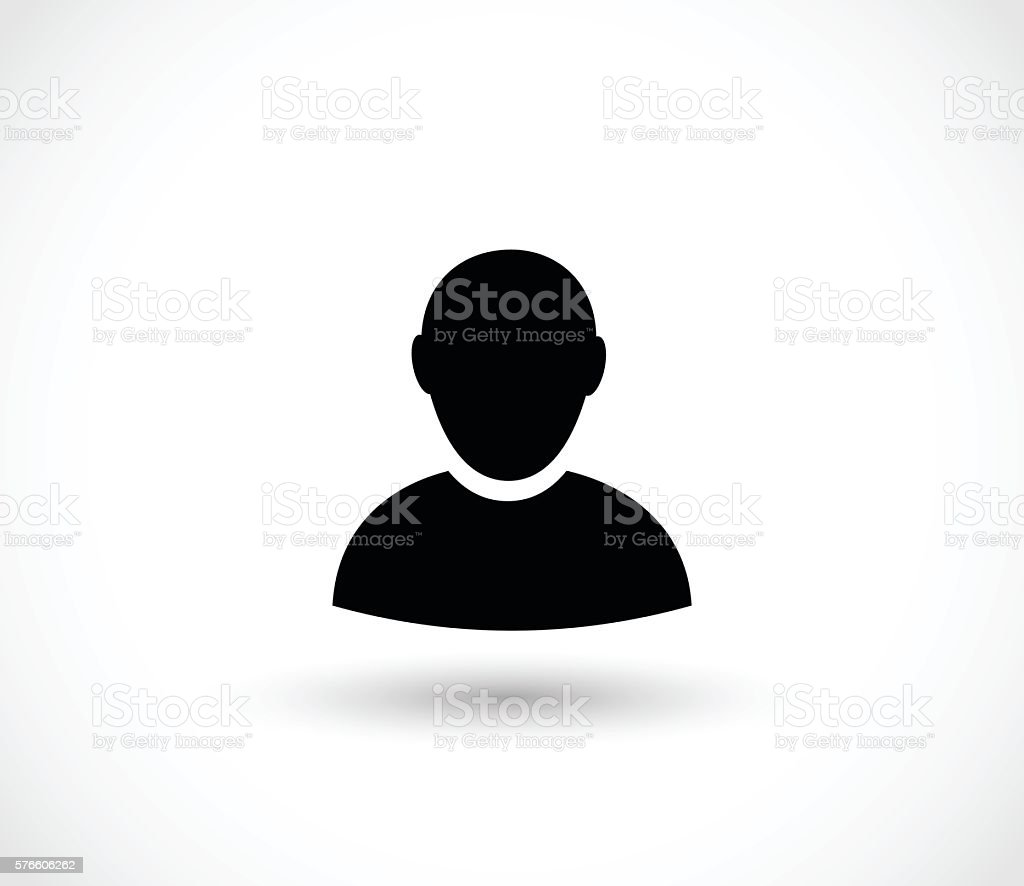 Man icon vector illustration - Royalty-free Adamlar Vector Art