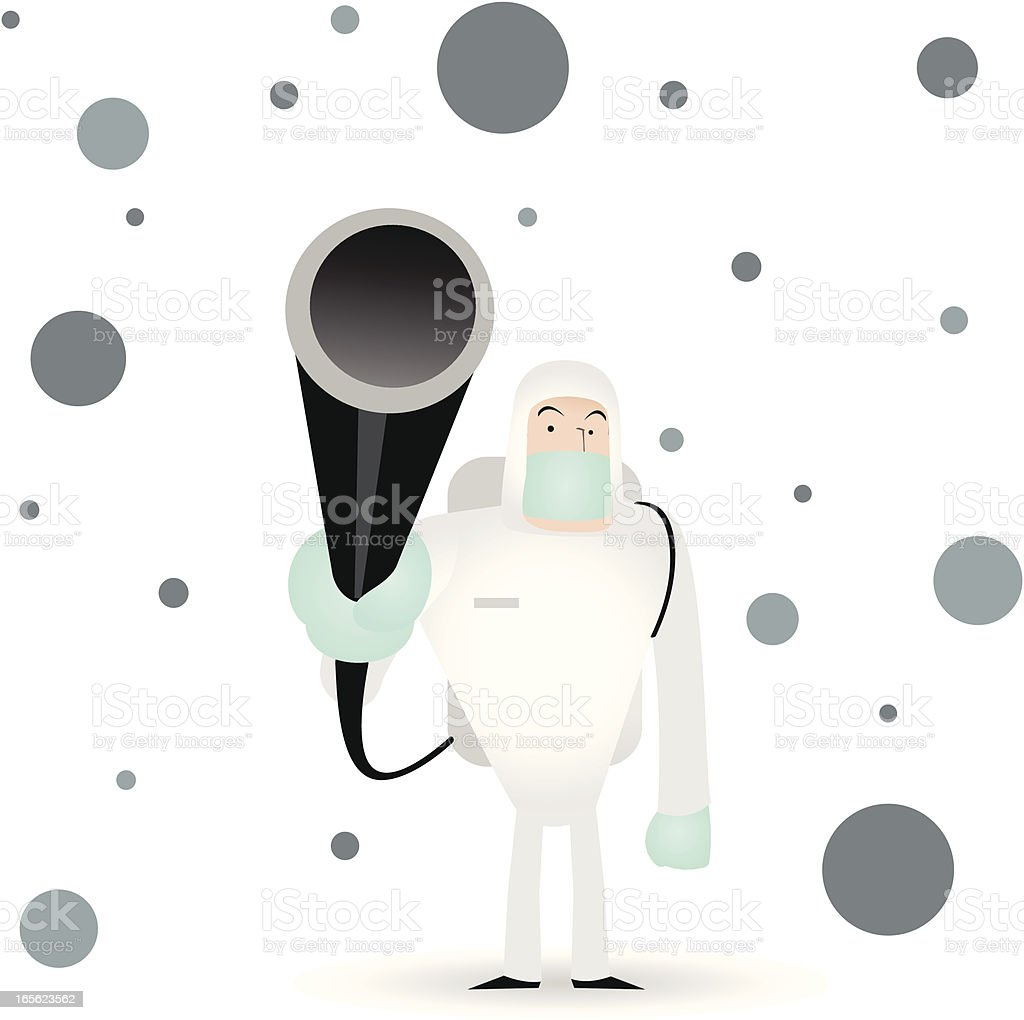 Man in a Biochemical Protection Suit. Disinfection ( Kill Virus ) royalty-free stock vector art