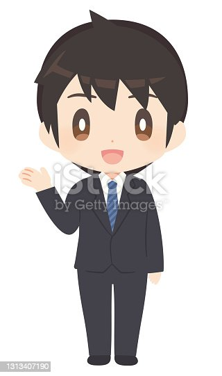 istock A man in a business suit to guide 1313407190