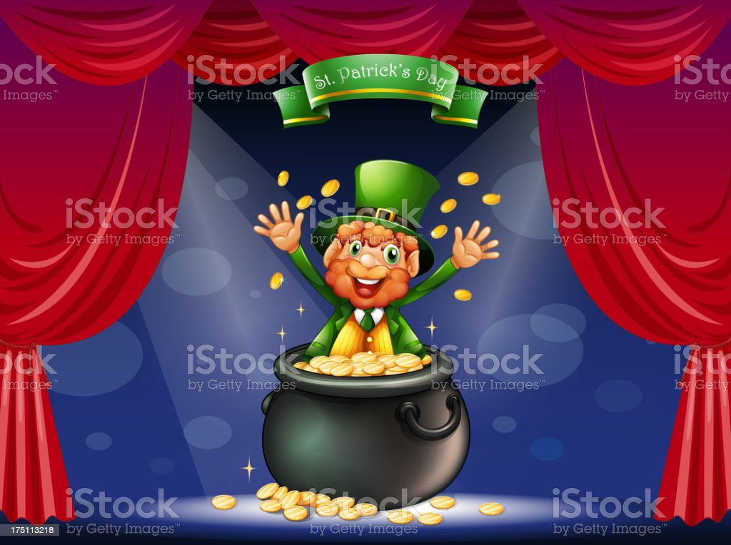 Man in a pot at the center of stage royalty-free man in a pot at the center of stage stock vector art & more images of adult