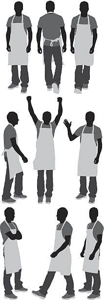 Man in apron Man in apronhttp://www.twodozendesign.info/i/1.png apron isolated stock illustrations