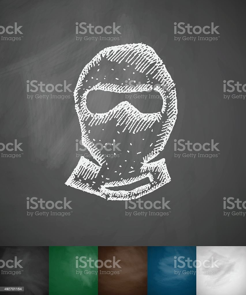 man in balaclava icon vector art illustration