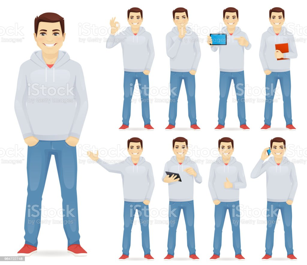 Man in casual outfit set royalty-free man in casual outfit set stock vector art & more images of adult