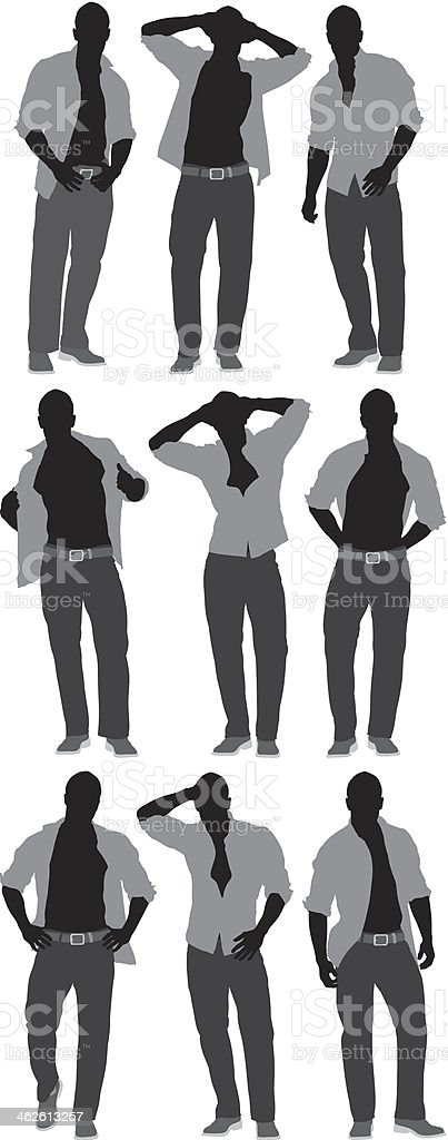 Man in casual wear royalty-free stock vector art