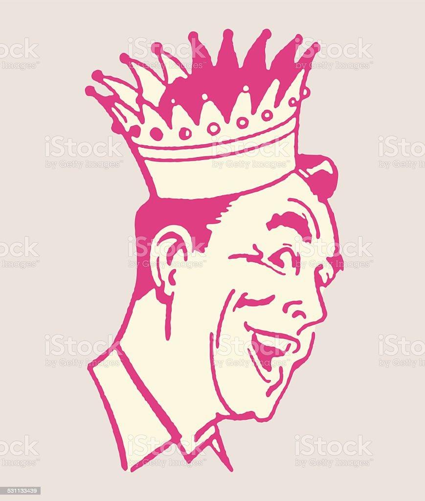 Mann in Krone Lizenzfreies mann in krone stock vektor art und mehr bilder von 2015
