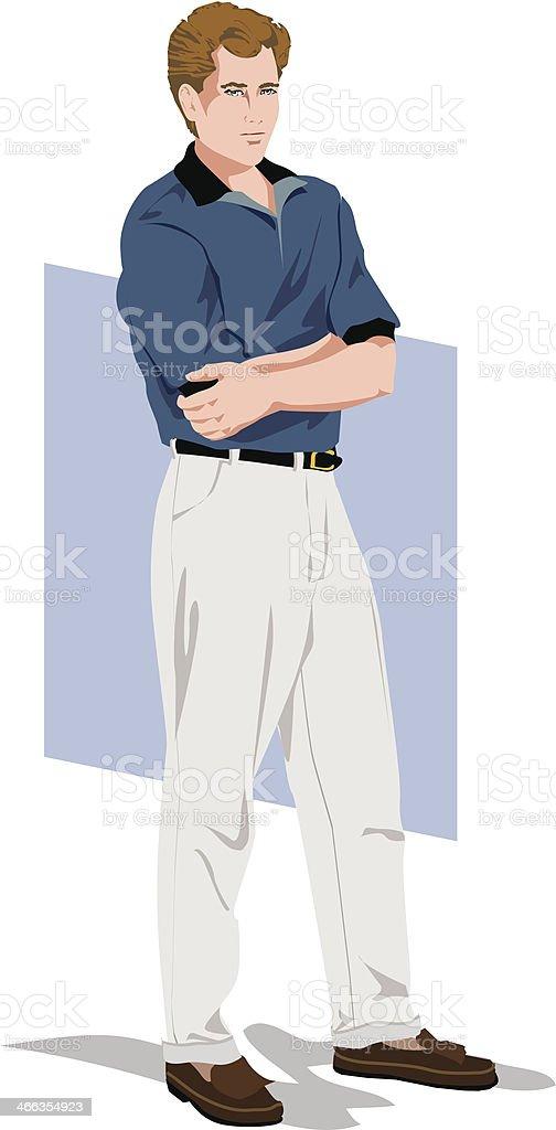Man In Dress Pants C vector art illustration